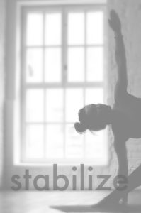 dragonfly yoga studio classes website 2018 triangle pose black and white STABILIZE (1)