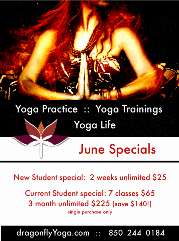 dragonfly yoga studio june 2019 class specials